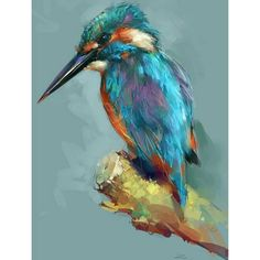 80 ideas for artistic acrylic painting for beginners - Aquarell Tiere - Animales Cross Paintings, Animal Paintings, Bird Paintings On Canvas, Famous Art Paintings, Paintings Online, Bird Canvas, Bob Ross Paintings, Modern Paintings, Indian Paintings