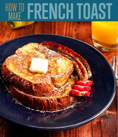 How to make the best french toast recipe. Homemade easy french toast recipes and more. Step by step tutorial with instructions for classic french toast.