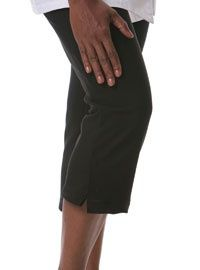 Womens Black Capri Chef Pants from Best Buy Uniforms. To see more womens chef uniforms click here www.bestbuyunifor... womens-chef-uniforms