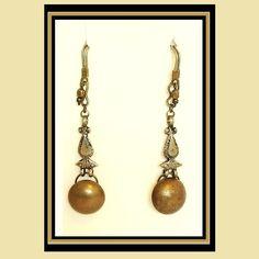 Brass & Sass dangle earrings for stretched by JanardeeJanardee