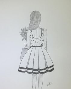 Click the link for step by step video zeichnen bleistift How to Draw a Girl with beautiful dress Pencil Drawing for beginners Pencil Sketches Of Girls, Pencil Drawings For Beginners, Disney Drawings Sketches, Pencil Drawings Of Girls, Girl Drawing Sketches, Girly Drawings, Art Drawings Sketches Simple, Art Drawings For Kids, Girl Sketch