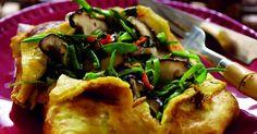 Chinese vegetable omelette