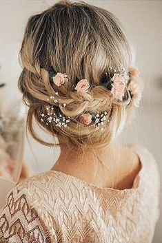 Wedding Hairstyles: Babys Breath Wedding Hairstyles Ideas #bride #bridal #weddings #weddingideas #we... TrendyIdeas.net | Your number one source for daily Trending Ideas