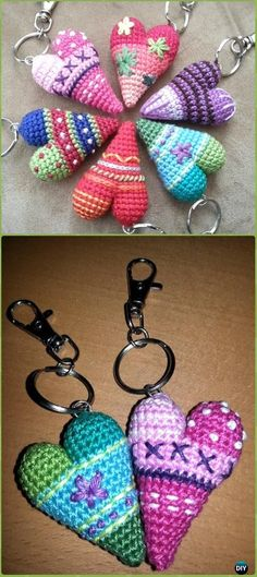 Mesmerizing Crochet an Amigurumi Rabbit Ideas. Lovely Crochet an Amigurumi Rabbit Ideas. Knitting Patterns Free, Crochet Patterns, Crochet Keychain Pattern, Confection Au Crochet, Crochet Amigurumi, Heart Patterns, Crochet Gifts, Diy Crochet, Crochet Accessories