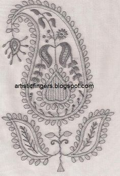 Lesson 8 - Chikan embroidery sal ~ wave stitch filling ~ by artisticfingers