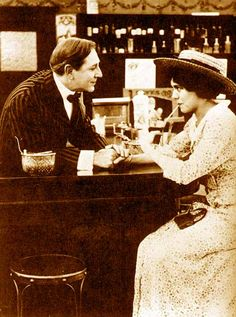 "scene from ""What's His Name"" (1914) directed by Cecil B. DeMille"