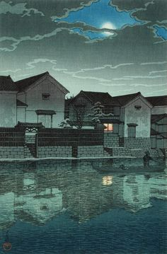 Izumo, Matsue (Hazy Moon), 1924 - Kawase Hasui