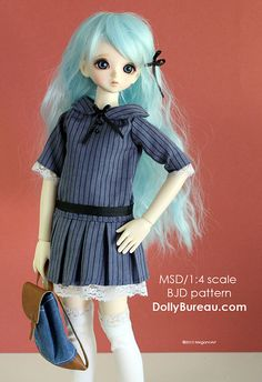 MSD/1:4 scale BJD pattern.