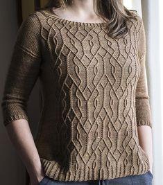 Aviara Pullover Knitting pattern by Irina Anikeeva Cable Knitting, Sweater Knitting Patterns, Knitting Stitches, Knitting Sweaters, Knitting Abbreviations, Aran Sweaters, Cardigan Sweaters, Pulls, Pattern Fashion