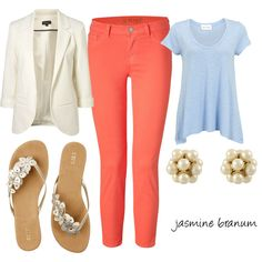***absolutely love the coral pants and the relaxing look of it all***
