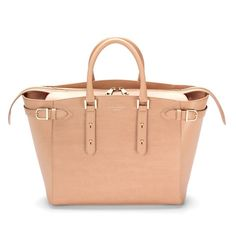 Large Marylebone Tech Tote in Deer Saffiano from Aspinal of London