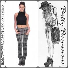Paige Gray Plaid Super Skinny Stretch Jeans MSRP $179.00 Size: 30 Measurements taken in inches: (Coming Soon)  waist:  inseam:  rise:  hips:  leg opening:   Features:  Low-rise waist Slim legs 5 pocket styling  Button/zip fly; belt loops  98% Cotton, 2% Spandex Made in U.S.A. Excellent condition, no flaws/defects.           *NOTE: Cover photo for style inspiration only. NOT same jeans, only similar. Please view all photos for actual jeans you're purchasing* - offers welcome  - Bundle…