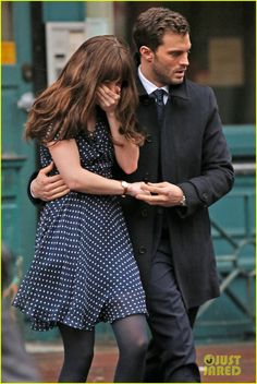 Jamie Dornan Consoles an Upset Dakota Johnson for 'Fifty Shades Darker' Scene | jamie dornan consoles dakota johnson on fifty shades darker set 34 - Photo