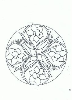 Mandala jonquilles