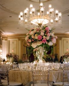 Tablescape | A breathtaking #wedding at the Fairmont Hotel Vancouver | #FairmontWeddings | WedLuxe
