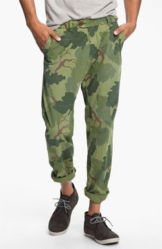 Scotch & Soda 'Bowie' Camo Print Slim Straight Leg Chinos |