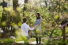 """""""I was holding the bottle we'd buried two years before, and he was down on one knee with a BEAUTIFUL ring in his hand. When I opened the note I read """"Will you marry me?"""""""""""