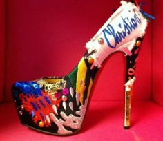 Christian Louboutin Daffodil Brodee Platform, Limited Edition, purchase at theCIRCEeffect.com. Will ship worldwide.