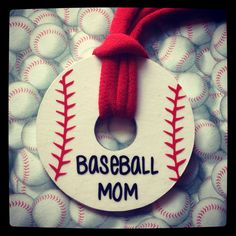 Great for Vicki (Baseball Mom) and softball for Judy - washer necklace (soccer. Baseball Jewelry, Baseball Crafts, Baseball Party, Baseball Season, Sports Baseball, Baseball Mom, Baseball Necklace, Soccer, Football
