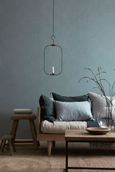 Love this wall color! Scandinavian Living room
