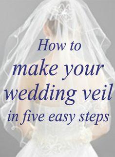 Money saving veil idea: make your own! How to make a wedding veil. #MayWeddingPhotoChallenge