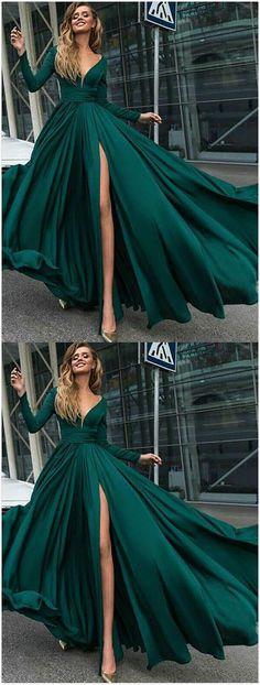 Green Prom Dress,A-Line Prom Dress,Mermaid prom Dress,Princess V-Neck