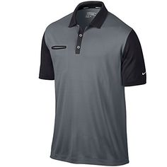 fe29f6691dc Nike Lightweight Innovation Color Men s Golf Polo MED BASE  GREY BLACK METALLIC SILVER M
