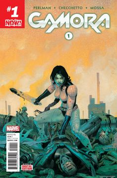 Before the Guardians…there was Gamora!  Once upon a time she was Thanos' heartless pet assassin and favorite daughter. Today, she is the backbone of the Guardians of the Galaxy, putting her life on the line to defend the innocent.   Source | http://marvel.com/comics/issue/51841/gamora_2016_1  Buy the Bow | http://sonandpopbowtieshop.com/shop-1/gamora?category=The+Dork+2.0
