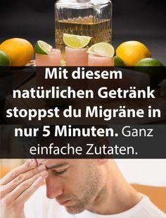 Mit diesem natürlichen Getränk stoppst du Migräne. | Krass