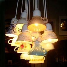 """Domestic Construction's """"Ted Lights"""" are made from recycled teacups -- you can get 'em in singles or clusters"""