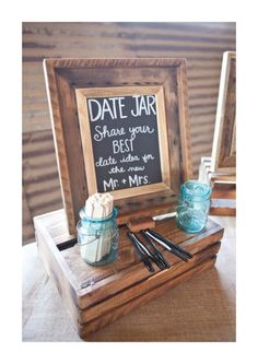 "each guest write a date night idea on a popsicle stick for your ""date night jar."" Have each guest write a date night idea on a popsicle stick for your ""date night jar.""Have each guest write a date night idea on a popsicle stick for your ""date night jar. Perfect Wedding, Dream Wedding, Trendy Wedding, Wedding Simple, Elegant Wedding, Quirky Wedding, Chic Wedding, Lace Wedding, Garter Wedding"