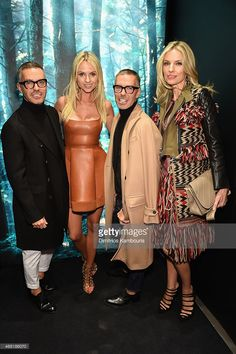 Owners and Creative Directors of DSQUARED2 Dan Caten and Dean Caten and Inga Kozel Svetlana...