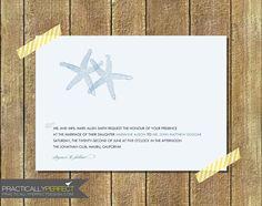 Modern Starfish Wedding Invitation (Digital Design Or Printed). $14.00, via Etsy.