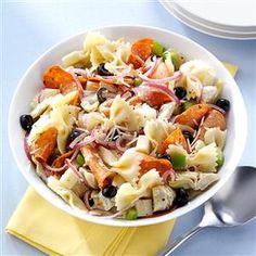 Pepperoni-Artichoke Pasta Salad Recip