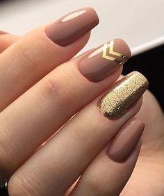 Golden Rose Nails – Tremendous Brown and Golden Glitter Nail Art Designs 2018 for Prom – Nagellack Neutral Nail Art, Gold Nail Art, Glitter Nail Art, Gold Nails, Gold Art, Pink Glitter, Nude Nails With Glitter, Glitter Toms, Glitter Converse