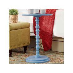 HomeVance Paige Pedestal End Table, Blue