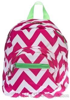 Laura Louise Designs - Pink Chevron Small Backpack, $15.00 (http://www.laura-louise.com/pink-chevron-small-backpack/)