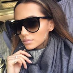 Classic Flat Top Sunglasses - UV400 FREE SHIPPING!!! Gender: Women Lenses Material: Polycarbonate Lens Height: 50mm Lens Width: 60mm Lenses Optical Attribute: UV400 Frame Material: Plastic - FREE SHIPPING! - 14 Day No Hassle Return Policy - Safe and secure checkout