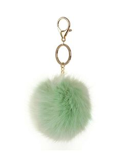 Pastel Green Fluffy Keyring - Dorothy Perkins