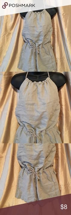 Sexy Romper!!! Sexy Tan Romper. Ties around the neck and waist. Size Small. Shorts