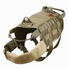 OneTigris Tactical Dog Training Molle Vest MOLLE on both side of the harness for use of any MOLLE or MALICE-type pouches, attached with magazine pouches, water bottles, food snacks, etc Velcro panel d