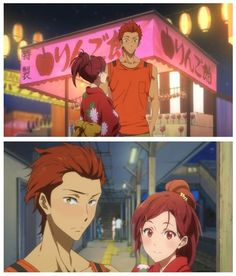 "Seijurou x Gou - FREE! Iwatobi swim Club - has no one noticed that Rin and Gou's names put together make ""Ringo,"" which is ""apple"" in Japanese, and their hair color is apple red???"