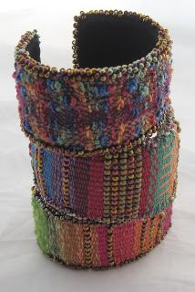 Mirrix Tapestry/Bead Cuff    This kit contains the following:  Brass cuff one inch wide C-Lon Cord Various yarns 8/0 and 11/0 seed beads u...