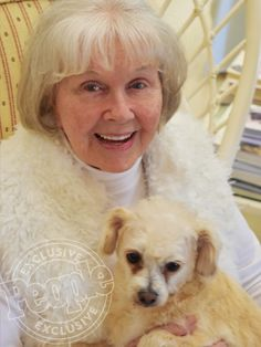 Last Photo of Doris Day | Doris Day Poses with Her Adorable Dog Squirrely is 92
