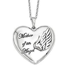 Mother of An Angel - Bereavement Necklace - Deborah J. Birdoes    #BereavementJewelry