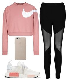 """Untitled #1175"" by noellescholte ❤ liked on Polyvore featuring NIKE, Boohoo and adidas Originals"