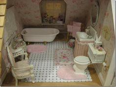 Diane Melcher's shabby cottage bathroom