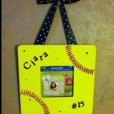 Softball frames I made for our team...