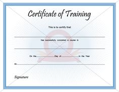 Sample Training Certificate Certificate Of Training Template Sample Pdf