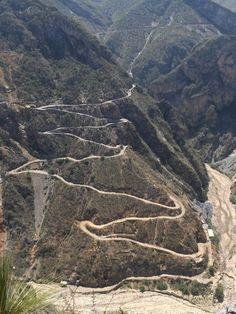 Camino a la mina Carrizal en Zimapan Hidalgo, México